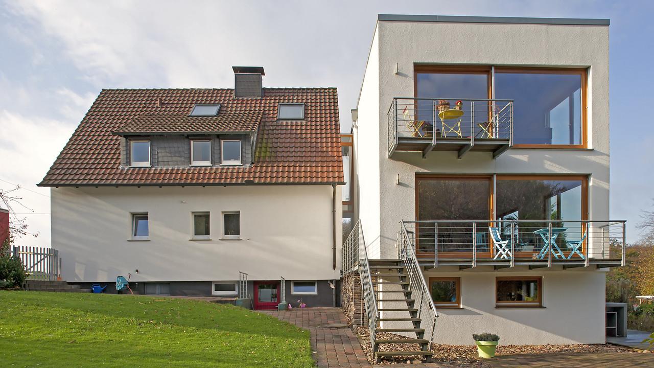 Anbau haus m projekte hein architekten for Anbau haus modern